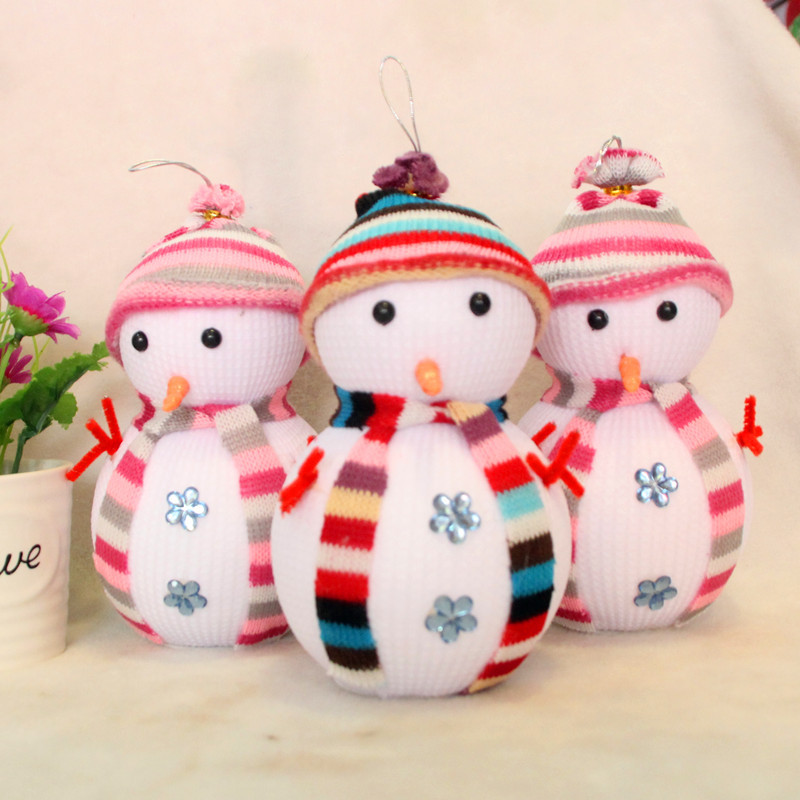 Lovely Snowman! Exclusive Super Cute Christmas Decoration Tree Decorations Snowman Doll Christmas Socks Children's Gift Tiny Toy(China (Mainland))