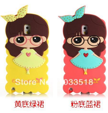 2lot new Korea Cartoon Little Bush Girls Soft Cover silicon case samsung galaxy note 3 n9000 - TNTC Co., Ltd store