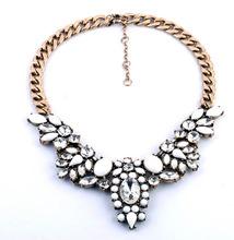 Summer Jewelry Fashion Brand Flower Choker Luxury Statement Rhinestone Necklaces For Women 2015 Necklaces & Pendants N638(China (Mainland))