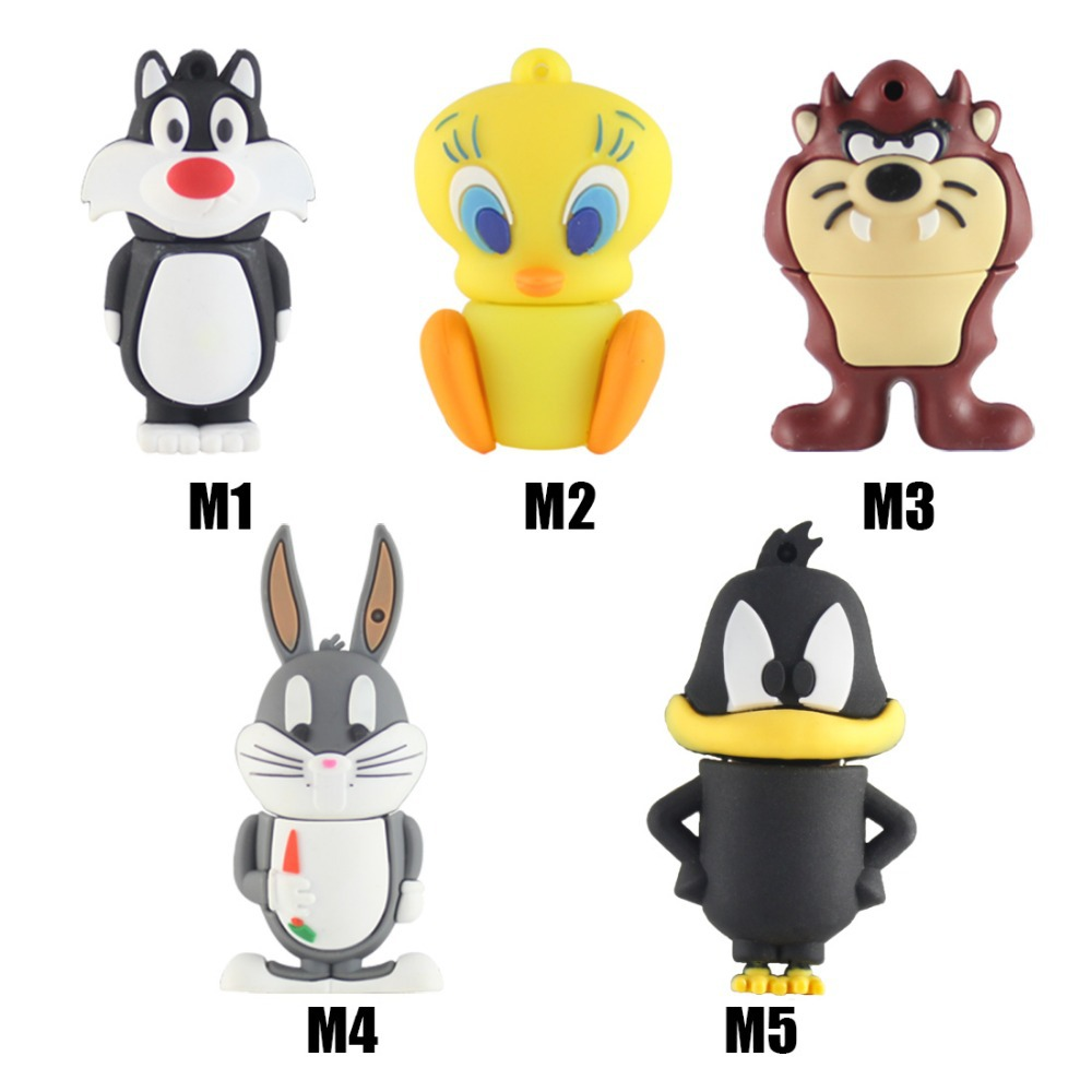 cartoon Bear Daffy Duck Bugs Bunny Cat Tweety Bird USB 2.0 Flash Drive U Disk Creativo Pendrive/Memory Stick/Gift 4G 8G 32G(China (Mainland))