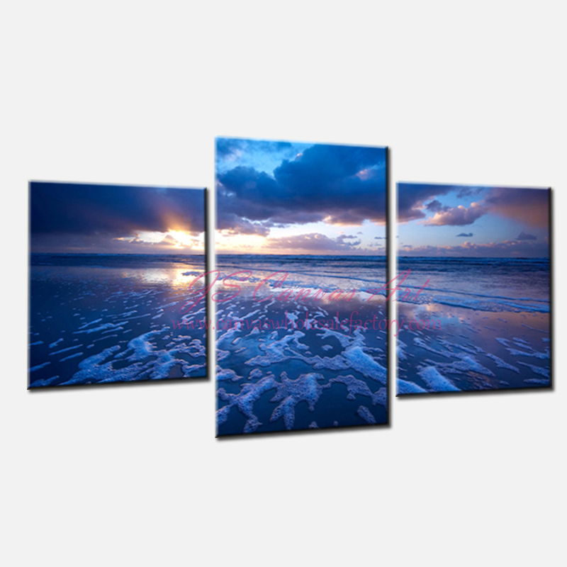 Piece Canvas Wall Art Painting Cheap Modern Canvas Art Ocean Decor