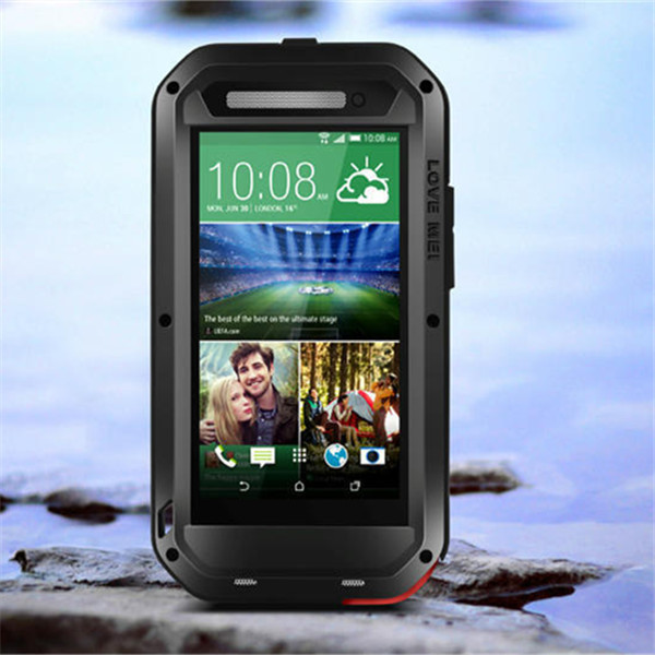 Metal Case HTC One E8 Love Mei Powerful Phone Bags Water Dirt Shock Proof Aluminum Cover - Popular Electronics store