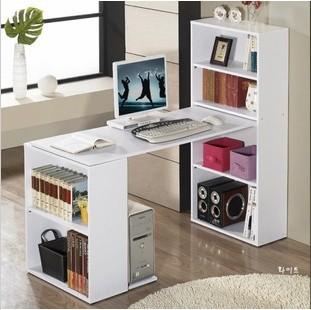 Contracted desktop computer desk desktop secretary ikea environmental desk  office book desk bookcase bookshelf combination ...