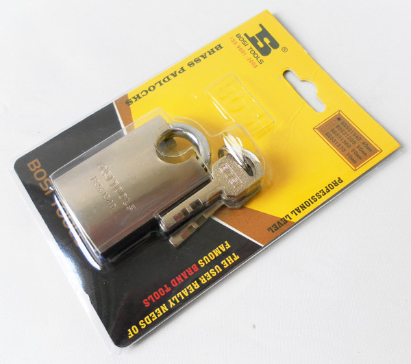Free shipping BOSI 40mm brass padlock master lock with 4pc keys(China (Mainland))