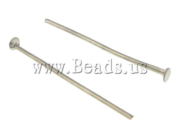 Free shipping!!!Iron Headpin,Womens Jewelry Fashion, platinum color plated, nickel, lead &amp; cadmium free, 2.5x26x0.5mm0.8mm<br><br>Aliexpress