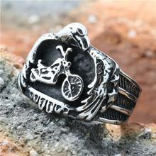 2015 Cool 316L Stainless Steel Silver Biker Motorcycle Biker Band Party Ring