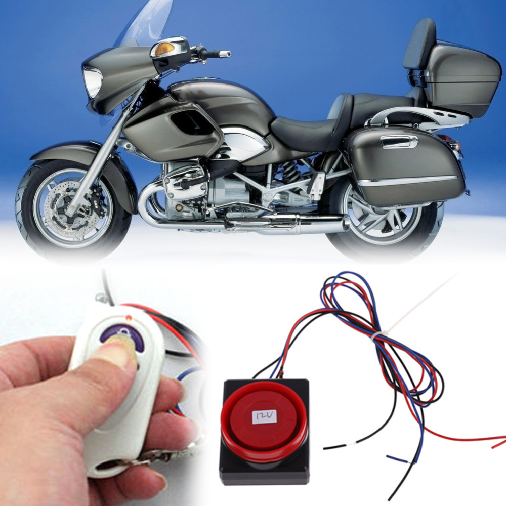 Motorcycle Security Car Styling Vibration Sensor Alarm System Anti-theft Remote Control<br><br>Aliexpress