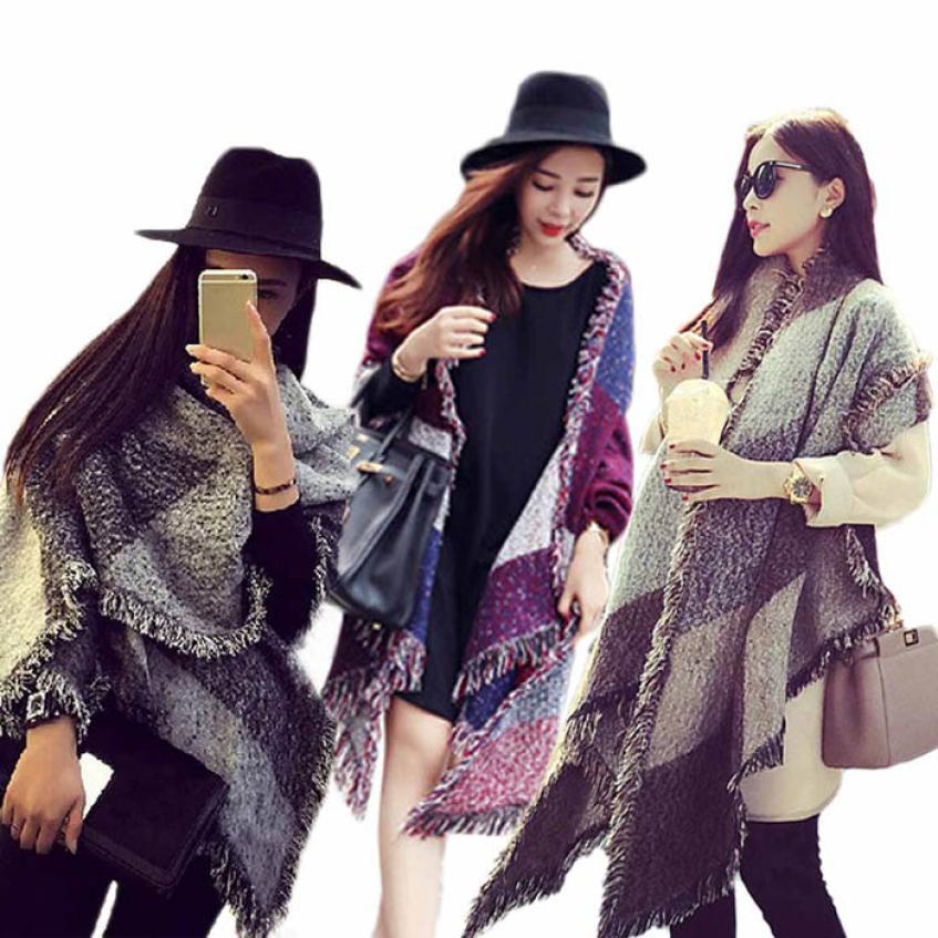 Essential 185cm 70cm Hot Fashion Women s Large font b Tartan b font Scarf Shawl Stole