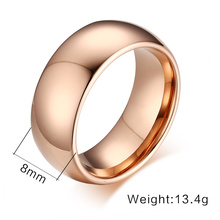 100% Tungsten Carbide Rings For Men Male Wedding Engagement Ring 8mm Simple Anel(China (Mainland))