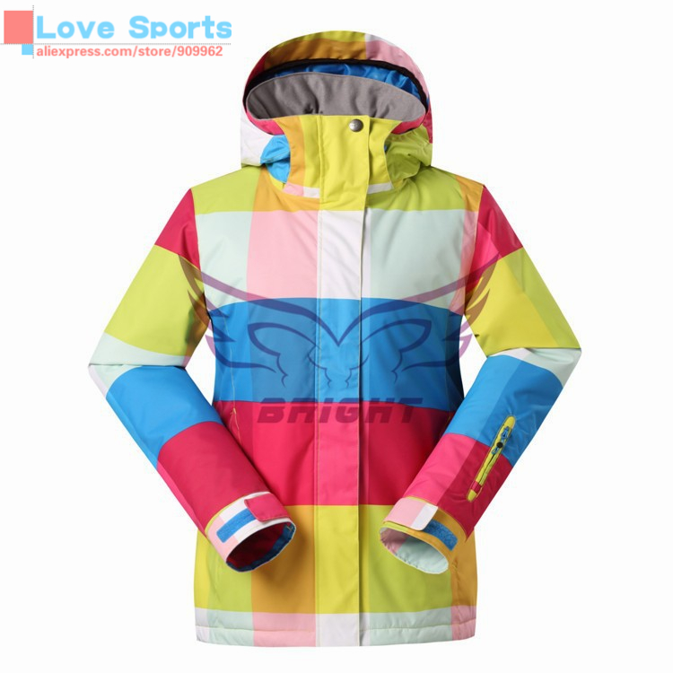Newest High Quality Women Outdoor Ski Jacket Snowboard Hiking&Camping Jacket Couples Colorful Jackets(China (Mainland))