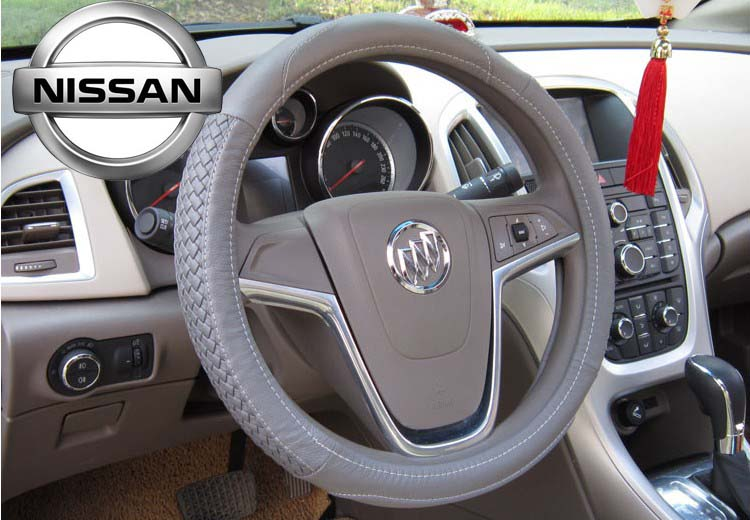 Free shipping High grade brand top layer cow leather car steering wheel cover Suitable for the Nissan car(China (Mainland))