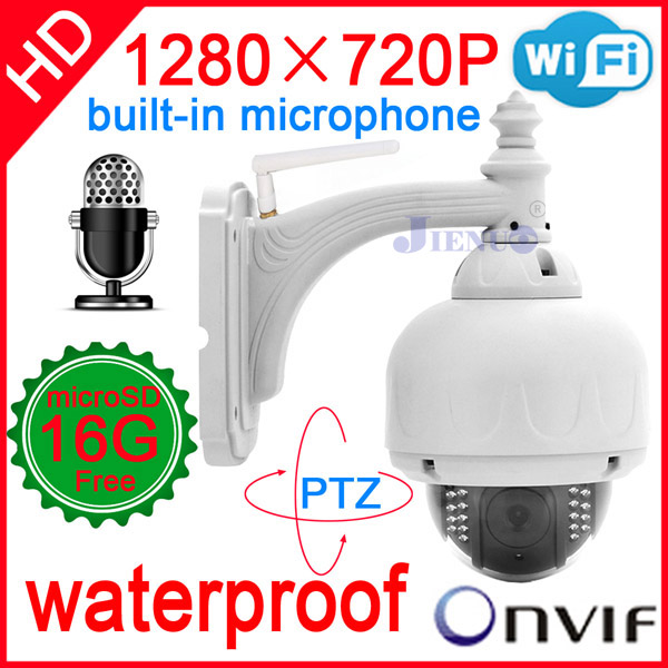 Камера наблюдения Jienuo cctv ip 720P ptz wifi onvif nvr cam JN-IP6901PTZ-A-WIFI misecu new 4ch 8ch mini nvr full hd real p2p standalone cctv nvr 1920 1080p onvif for 1080p 960p 720p ip camera security system