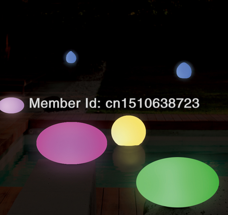 Magic RGB LED Egg 35 cm X 20 cm rechargeable,waterproof pool color changing LIGHT Wireless inductive charging(China (Mainland))