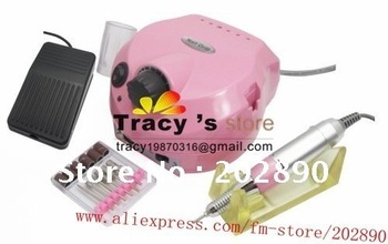 NEW-Free Ship  MANICURE ELECTRIC NAIL DRILL Mechine Electric File for Nail Art Manicure Pedicure Salon- retail packing