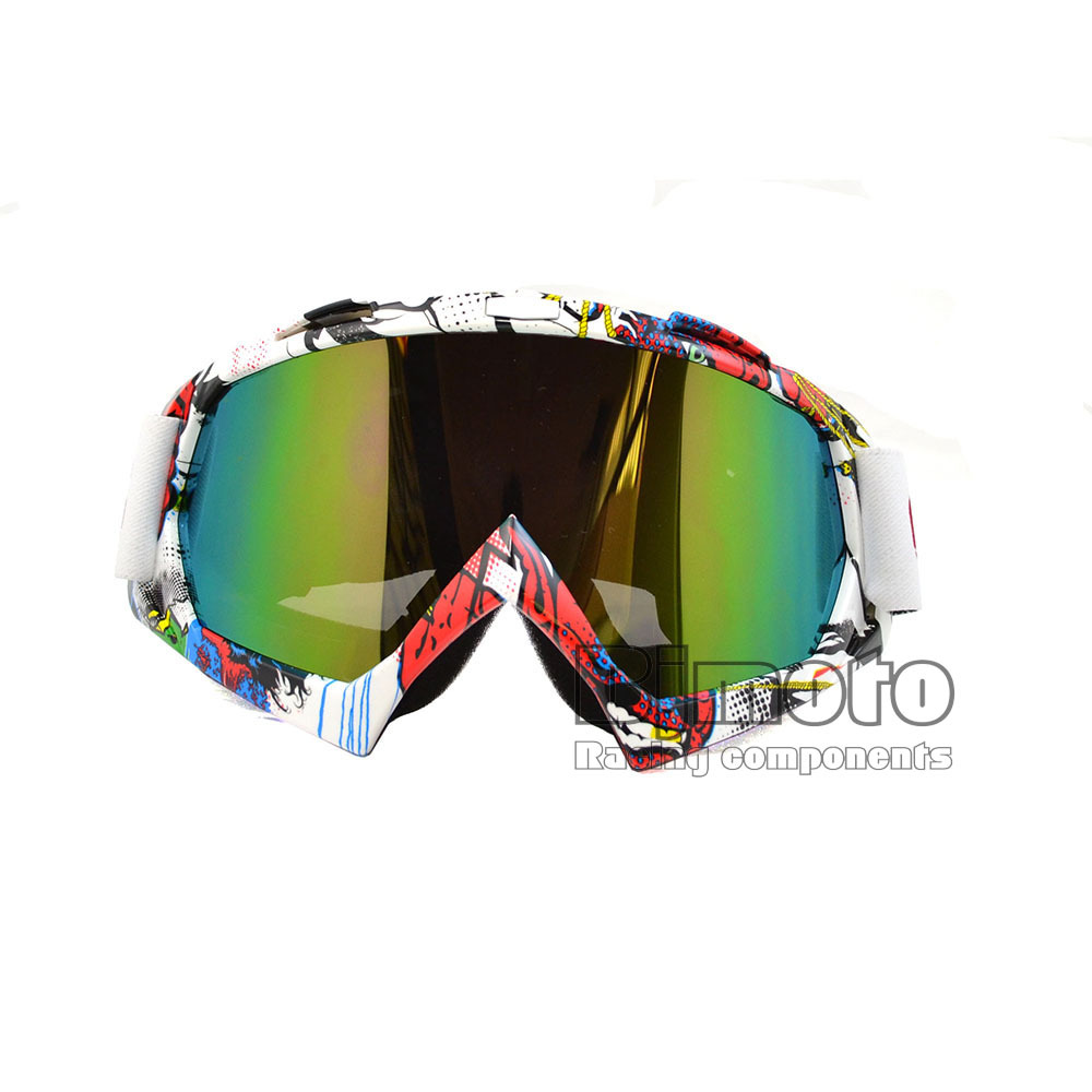 MG-001A-CO Newest Colorful Vintage UV Protection Sport Racing Off Road Motocross Goggles Glasses For Motorcycle Dirt Bike ATV