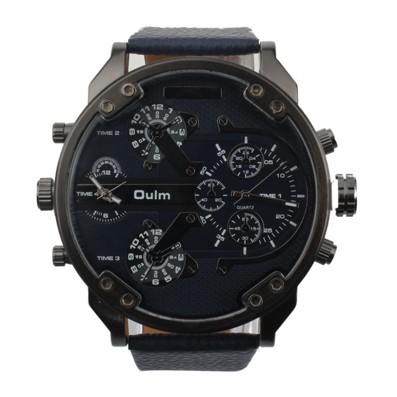 Creative Fshion Watches Men Luxury Dual Time Business Watch Men Large Quartz Watch