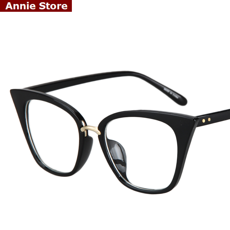 Latest Glasses Frame Designs : Peekaboo New 2016 fashion cat eye glasses frames optical ...