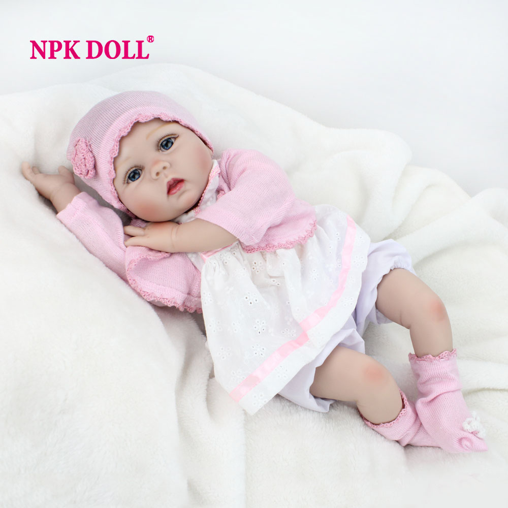 """NPKDOLL 22"""" 55 cm Lifelike Doll Reborn Realistic Soft Silicone Vinyl Reborn Baby Dolls For Girls Kids Gifts Russia Delivery(China (Mainland))"""