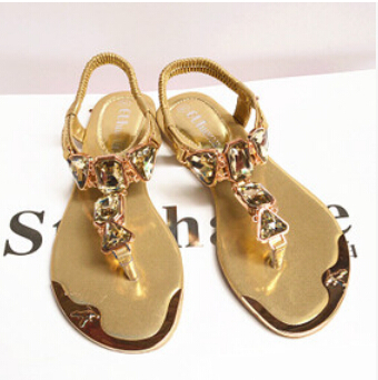 2015 summer burst models diamond wrist after strappy sandals clip toe flat shoes to help low word metal head free email(China (Mainland))