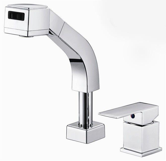 Pull out Torneira polido Chrome Torneira do banheiro Pia bacia torneira Tor -> Pia De Banheiro Em Ingles
