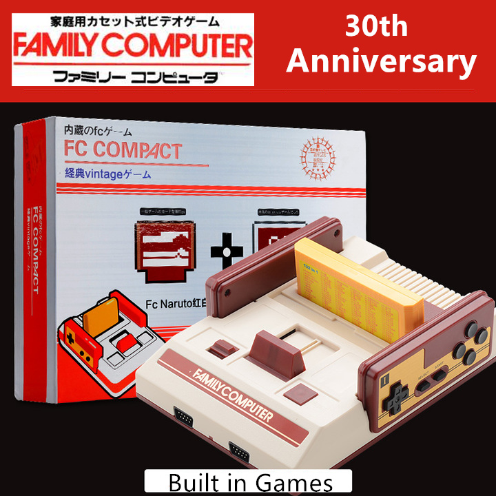 30th Anniversary Family Home TV Video Game Console Switch Classic Games NES Double Handles Kids Toys Gifts + 1 Free Game Card(China (Mainland))