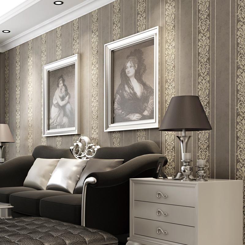 Gestreifte Tapete Wohnzimmer : bronze tapete aus China bronze tapete Gro?h?ndler