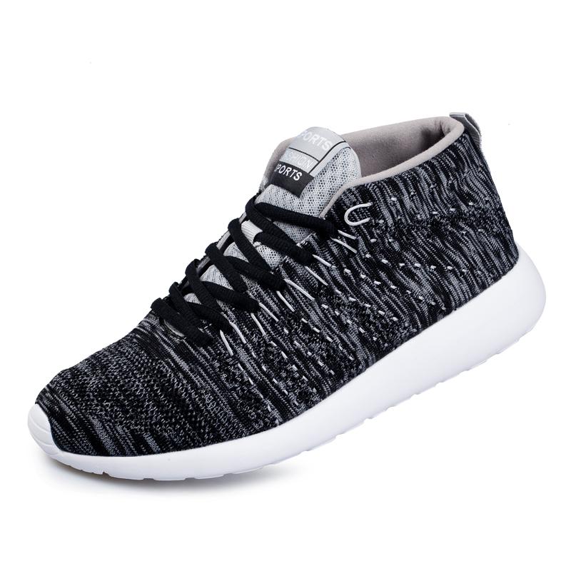 New Brand Running Shoes 2016 Gray/Black Mens Walking Shoes Medium Cut Chaussure Sport Homme Original Sport Shoes Cheap Sneaker(China (Mainland))