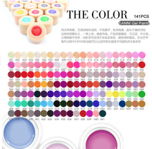 CANNI 140 Color Gel Paint Solid Pure Glitter UV Soak Off Gel Builder Gel Nail Art