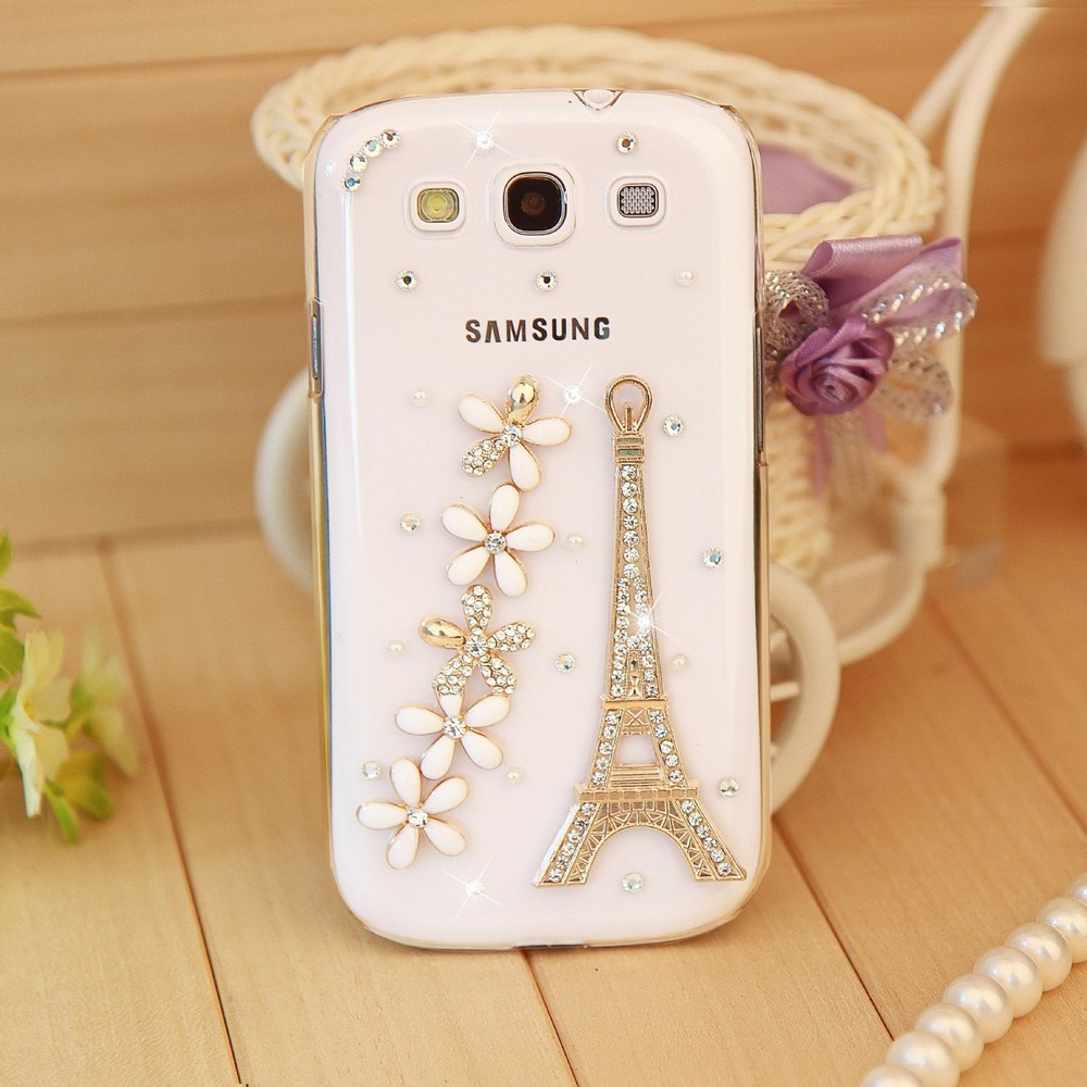 4 style case,Fashion Rhinestone Crystal Towers Hard Back Cover Skin Cell Mobile Phone Case For Samsung Galaxy S3 SIII I9300 Case(China (Mainland))