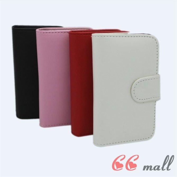 For iphone 4 cas PU Leather Wallet Case Credit Card Smart Cover for iPhone 4S 4G 4th free shipping(China (Mainland))