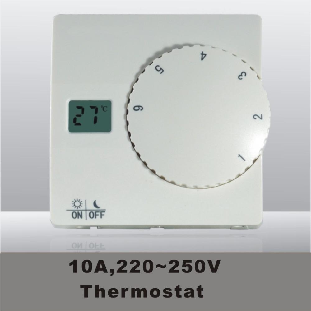 Гаджет  10A/3500W 220~250V floor heating digital thermometer with sensor None Строительство и Недвижимость
