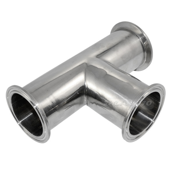 Mm quot way tee sanitary ferrule pipe fittings stainless