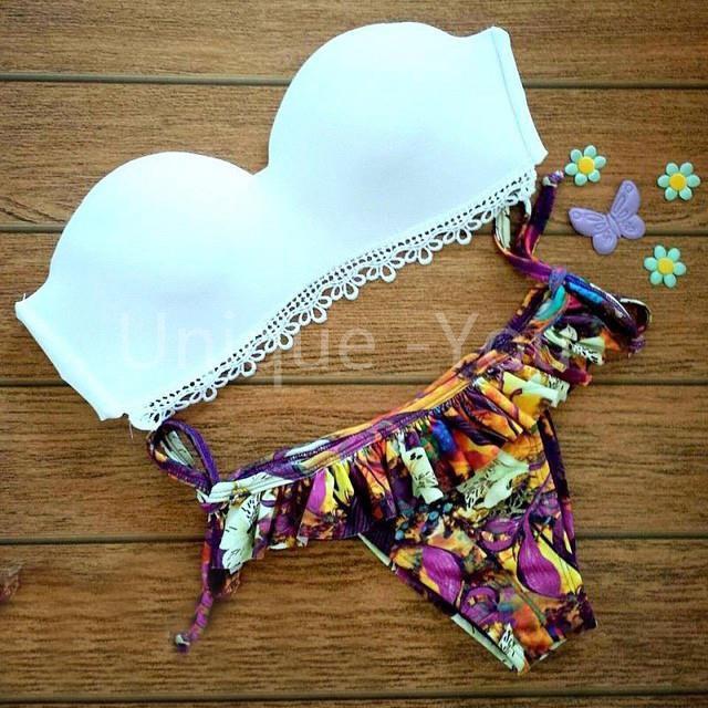 Trajes De Baño Estilo Vintage:del estilo Triangl Sexy Bikini traje De baño trajes De baño flor De