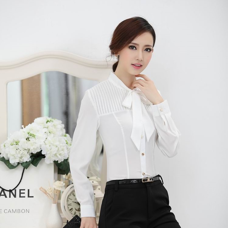 Fantastic  Ladies Office Uniform Blouse Amp Shirts OL Female Blusas Femininas