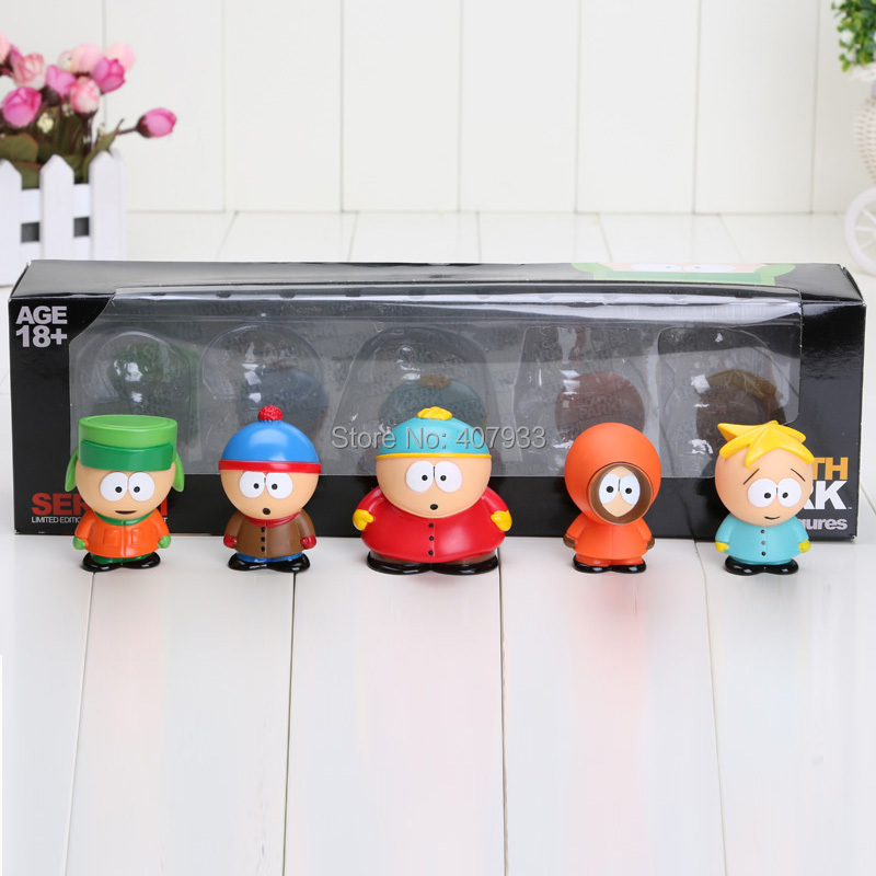 1 set Retail Cute PVC South Park Figure 5 pcs/set Mini Display Action Figure Toys Doll(China (Mainland))