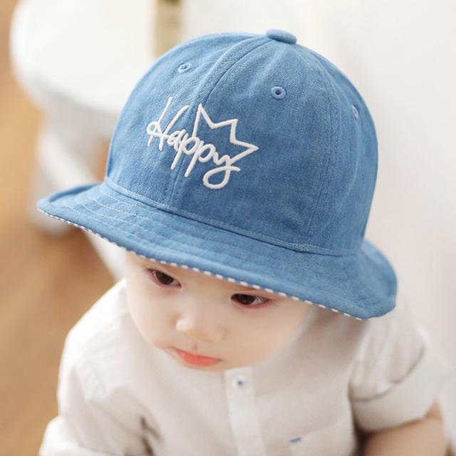 Дети мальчики вс шляпы весна лето шапки хлопок ковша шляпа ребенок дети мальчик кроненпробка новинка бесплатная прямая поставка 6M-18Months