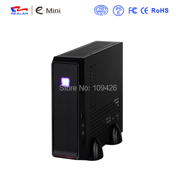 Realan Emini 3019 Mini ITX Htpc Computer Case With Power Supply, SECC 0.6mm, 2.5 HDD 3.5 HDD, Small Htpc Cases(China (Mainland))