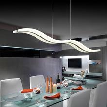 Modern Wave design Chandeliers acrylic living room dinning room ceiling mounted led chandelier light 97cm 110V 220V
