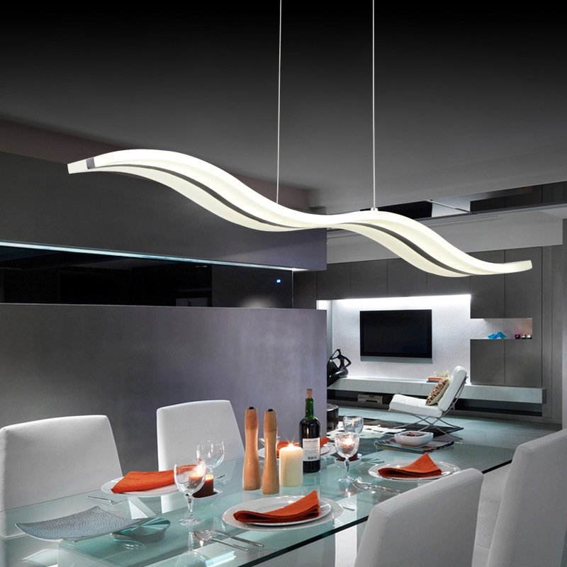 2015 NEW Modern LED Chandeliers 38W white acrylic for dinning room restaurant bedroom study chandelier lighting L95*H150cm(China (Mainland))