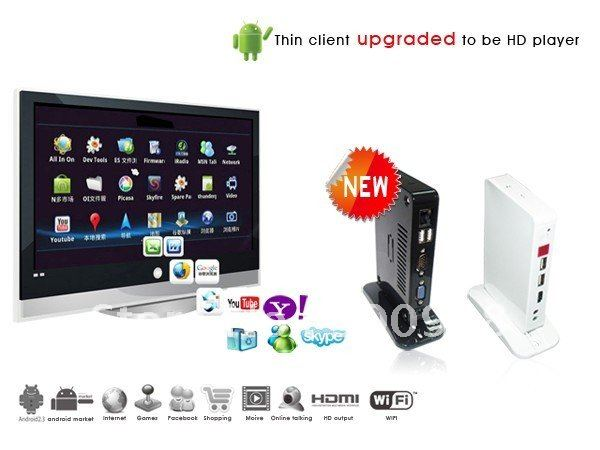 Freeshipping Android Mini PC Workstation&Thin Client Terminal ith 1.0Ghz CPU 512M RAM&4GB Storage Android 2.3 OS HDMI(Hong Kong)