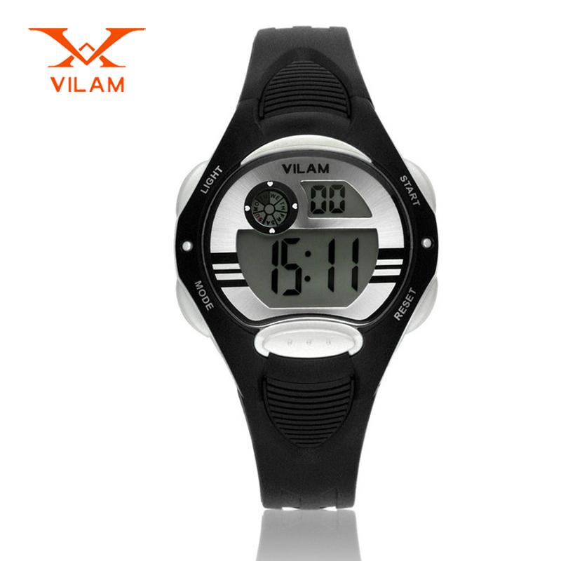 VILAM brand children digital-watch 50M waterproof sport watch fashion kids watch boys girls swimming wristwatch VL10012(China (Mainland))