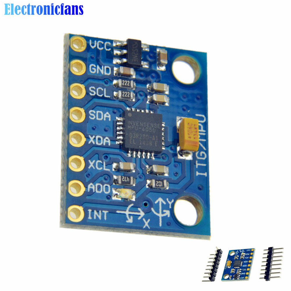 1Set IIC I2C GY-521 MPU-6050 MPU6050 3 Axis Analog Gyroscope Sensors + 3 Axis Accelerometer Module For Arduino With Pins 3-5V DC(China (Mainland))