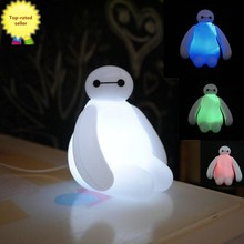 HOT!!New Color Changing High Quality 16cm Big Hero Baymax USB LED Night Creative Light for Table Desk Lamp & For Children's Gift(China (Mainland))