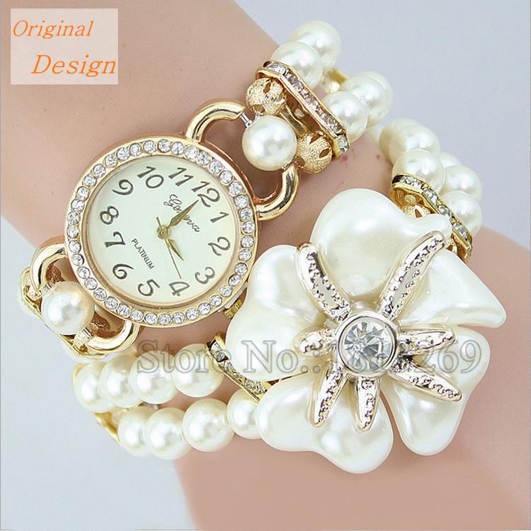 Nice Montre Bracelet Femme New Fashion Luxury Pearl Ladies Watches 5 Colors Women Wristwatches Relogio Feminino Reloj Mujer 2015<br><br>Aliexpress