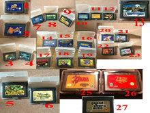 Multi Optional GBA Game Cartridges: Megaman zero/Kirby/Donkey Kong Country/Sonic Advance/Grand Theft Auto Advance/Metroid etc (China (Mainland))