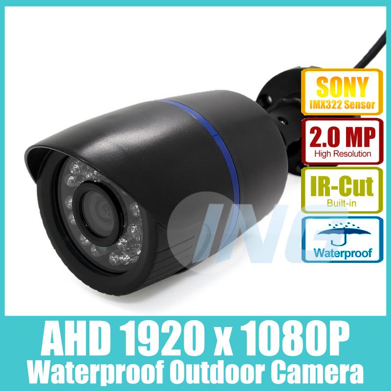 Waterproof 1920 x 1080P 2.0MP AHD CCTV Camera Sony IMX322 24LED IR Outdoor Security Camera Night Vision Bullet Cam w/ IR-Cut(China (Mainland))