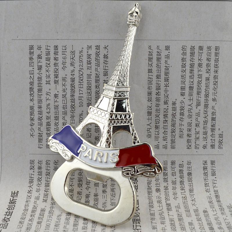 Eiffel Tower refrigerator stickers beer bottle opener(China (Mainland))