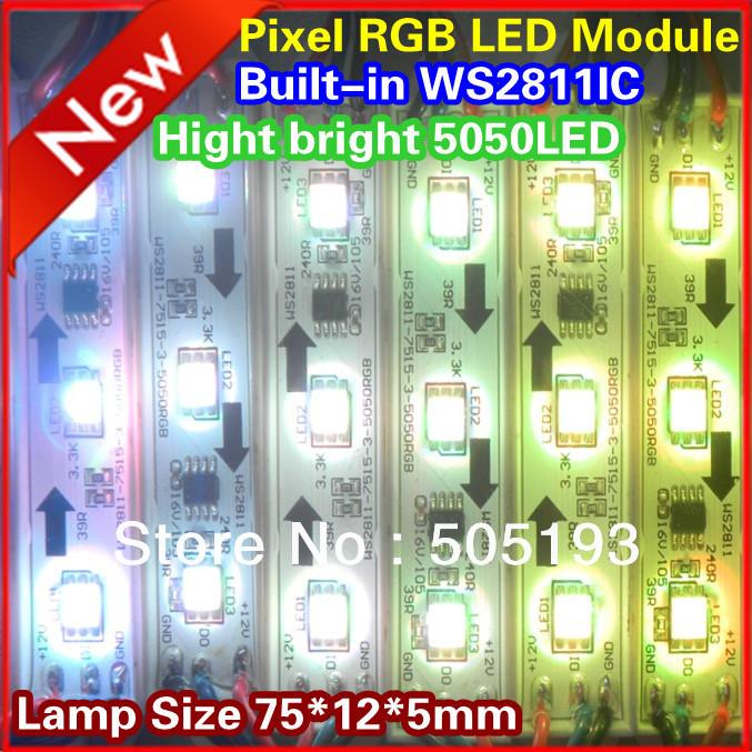 WS2811 IC Pixel RGB Waterproof 5050 LED module light,10, - CHINLY ELECTRONIC TECHNOLOGY CO.,LTD store