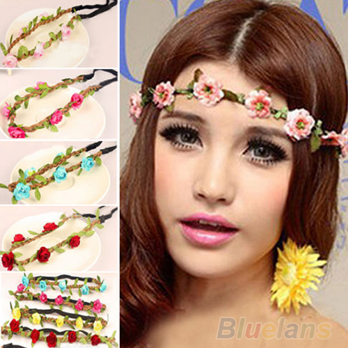 Boho Style Floral Flower Women Girls Hairband Headbands Festival Party Wedding 01NP