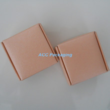 Wholesale 6.5*6.5*3cm Hot Sale Pink Kraft Paper Cardboard Jewelry Gift Packag Event Boxes For Macaron Cake Biscuit Package Box(China (Mainland))